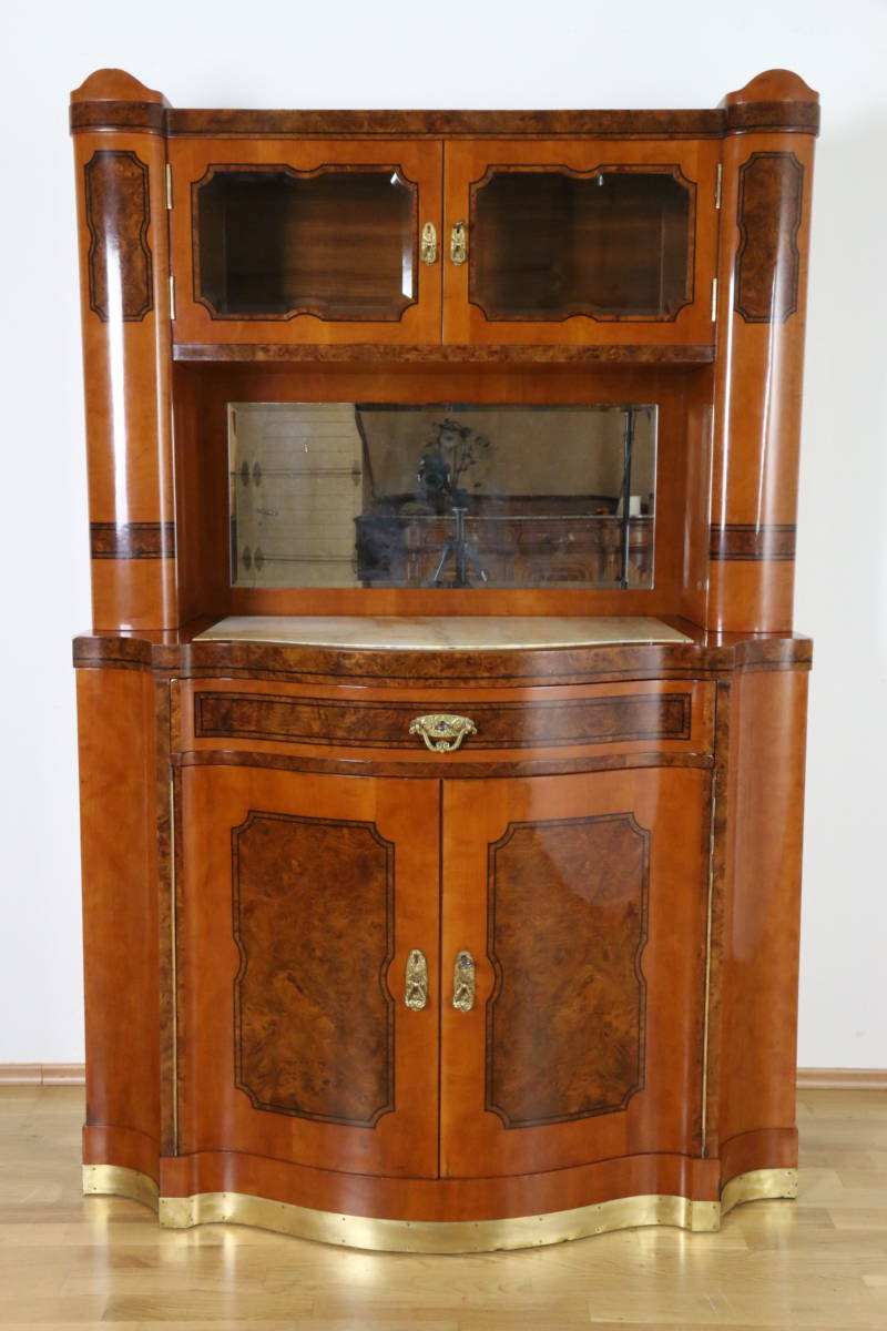jugendstil buffet birnbaum und r sterholz furniert auf nadelholz wien um 1900 antike m bel. Black Bedroom Furniture Sets. Home Design Ideas