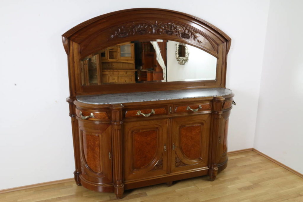 anrichte jugendstil mahagoni r ster antik massivholz m bel kommode frankreich ebay. Black Bedroom Furniture Sets. Home Design Ideas