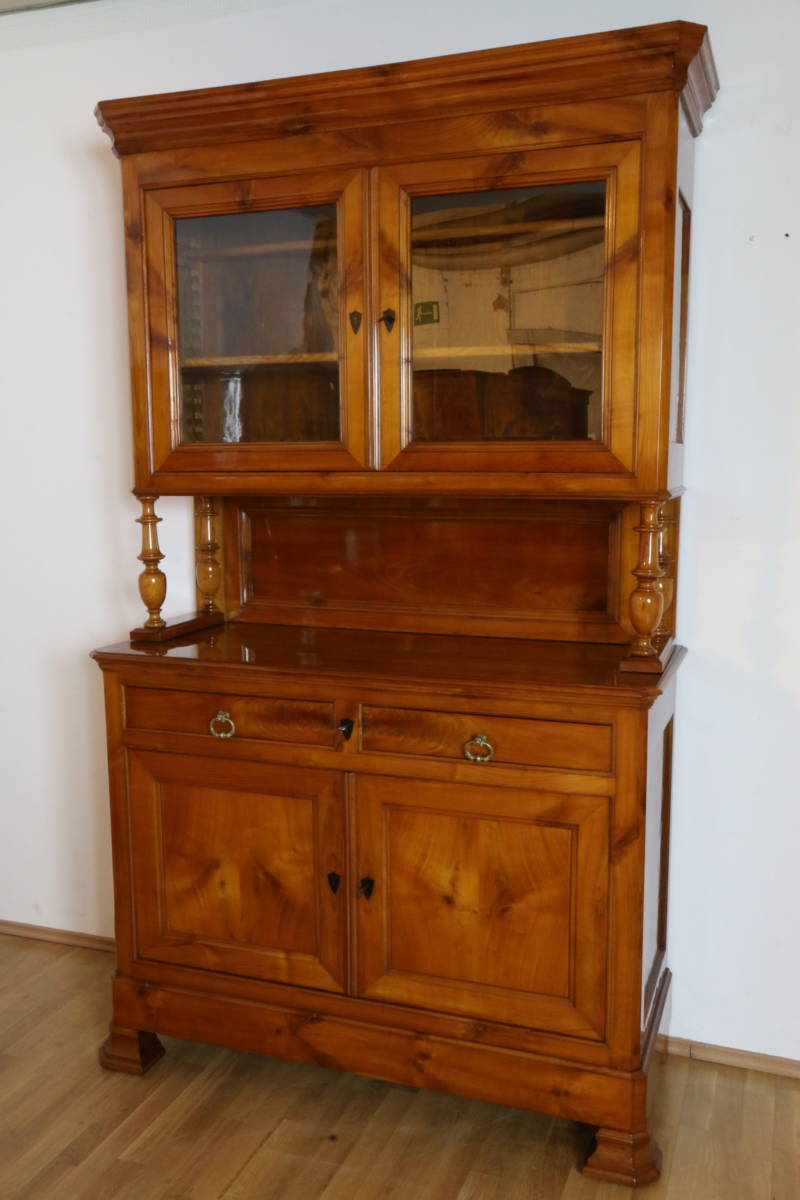 buffet frankreich biedermeier zeit anrichte vitrine esszimmer antik m bel s ulen ebay. Black Bedroom Furniture Sets. Home Design Ideas